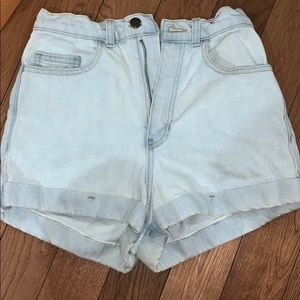 American apparel high waisted  jean short